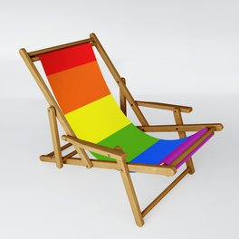 Pride Rainbow LGBTQ Colorful stripes design 2 Sling Chair