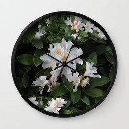 BLOOMING RHODODENDRON  Wall Clock