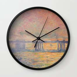 Charing Cross Bridge (Saint Louis), Claude Monet Wall Clock