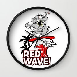 Red Wave Design for Conservative Republican 2018 Voters Wall Clock