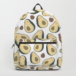 c cartoon avocado seamless pattern. Adorable flat fruit illustration. Childish healthy food Backpack