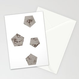 Pentagons of May 4 Stationery Cards