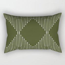 Geo (Olive Green) Rectangular Pillow