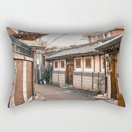 Bukchon Hanok Village Street - Seoul, Korea Rectangular Pillow