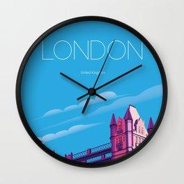 London travel poster Wall Clock