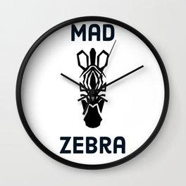 Mad zebra (talkerst) Wall Clock