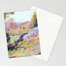 Willard Leroy Metcalf Hillside Pastures September Stationery Cards