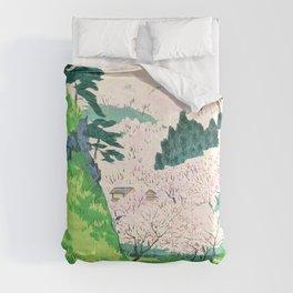Kobayashi Kiyochika - Sketches of the Famous Sights of Japan - Mt. Yoshino - Digital Remastered Edition Comforters