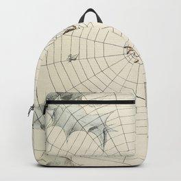 Vintage Garden Spider with Web Illustration (1891) Backpack