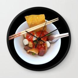 Yen Ta Fo Thai Pink Noodle Soup Wall Clock