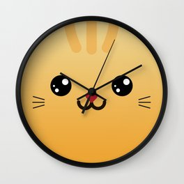 Children imaginary furry friend GINO THE CAT (Chibi Palz cute companion) Wall Clock