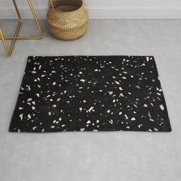Terrazzo Memphis black galaxy Rug