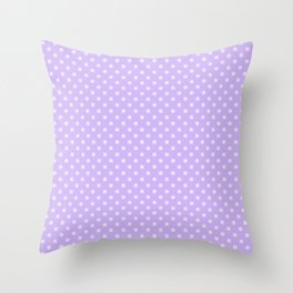 Purple background with polka dot Throw Pillow