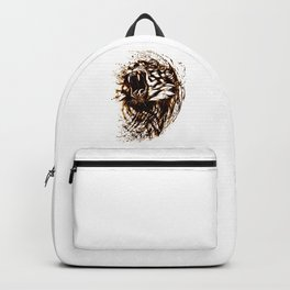 Roaring Ferocious Tiger with Red and Yellow Accents Backpack
