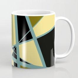 Triangles Mikado pattern yellow turquoise vintage color Coffee Mug