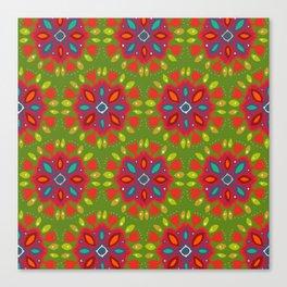 FLOR XL green Canvas Print