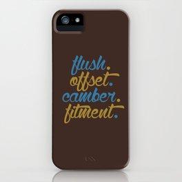 flush offset camber fitment v7 HQvector iPhone Case