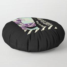 Vaporwave Art Floor Pillow