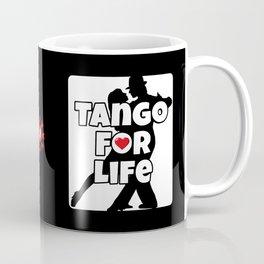 Tango for Life Black and White with Heart Coffee Mug