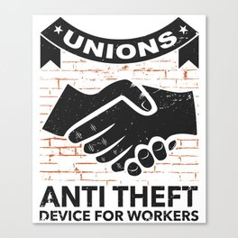 Labor Union of America Pro Union Worker Protest Light Canvas Print