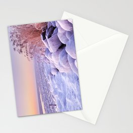 Frozen lake Markermeer, The Netherlands at sunrise Stationery Cards