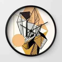 Crystal City Golden Moon Wall Clock
