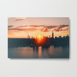 Sunrise in New York City (Color) Metal Print