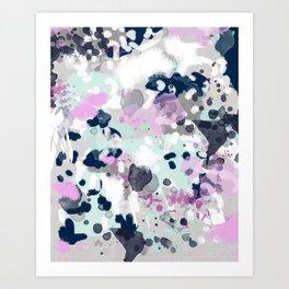 Elsie - modern abstract painting trendy home dorm college decor canvas art Art Print