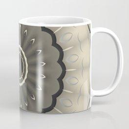 Minimalist Light Brown and Black Mandala Pattern Coffee Mug