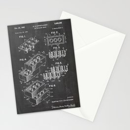 Legos Patent Drawing Stationery Cards