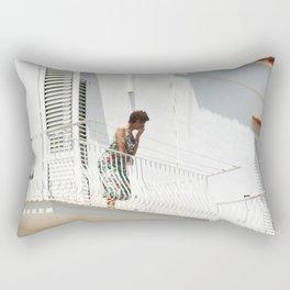 Lady on Balcony Rectangular Pillow