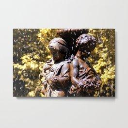 Cherub Fountain Metal Print