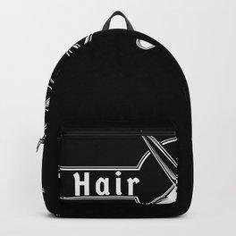 Hair Hustler Typeface Design With Scissors Backpack