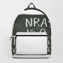 NRA is a Terrorist Organization Chalkboard Backpack