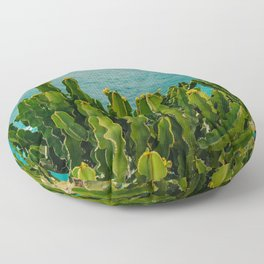 Amalfi Coast Cactus Floor Pillow