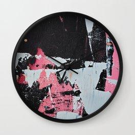 Profoundly [1]: a vibrant abstract piece in blues magenta and orange by Alyssa Hamilton Art Wall Clock