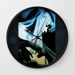 Joni Mitchell Watercolor Wall Clock