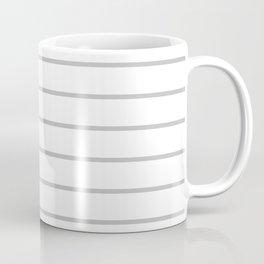 Gray and White Stripes - Thin Gray Wide White Coffee Mug