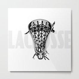 Lacrosse Negative Metal Print