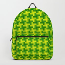 Yellow and green squares Backpack