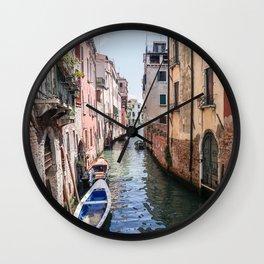 Wandering in Venice Wall Clock