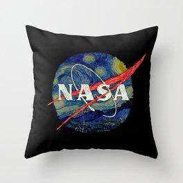 Starry Nasa Throw Pillow