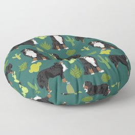 Bernese Moutnain Dog Cactus Print - bernese mountain dog, dog, cactus, arizona, desert Floor Pillow