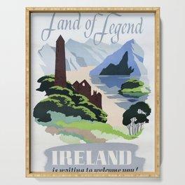 Land of Legend Vintage Travel Poster Serving Tray