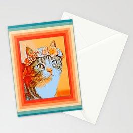 Retro Cat 80s Stationery Cards