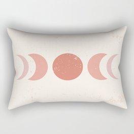 Midcentury Magic Minimalist Bohemian Neutral Tones Moon Phases Astrological Zodiac Sign Rectangular Pillow