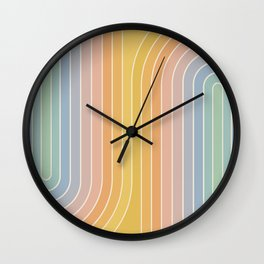Gradient Curvature III Wall Clock