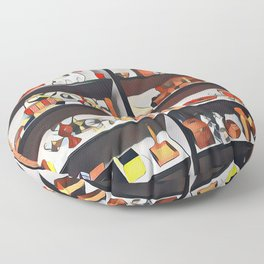 My oh my what is on the shelf?  Floor Pillow