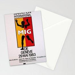 poster mig geneve geneva Stationery Cards