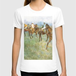 Jockeys In The Rain 1886 By Edgar Degas | Reproduction | Famous French Painter T-shirt
